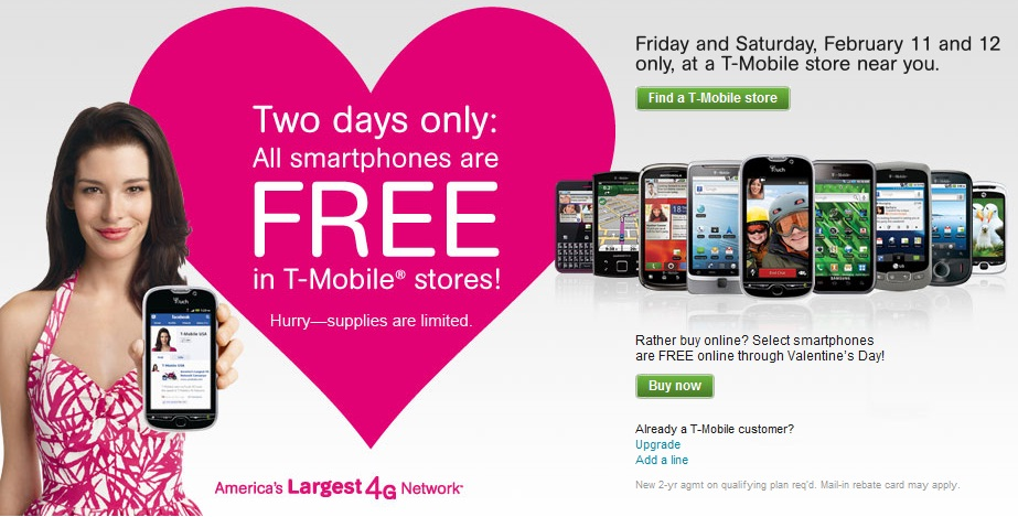 Reminder T Mobile S Free Phone Valentine S Day Promo Starts Today