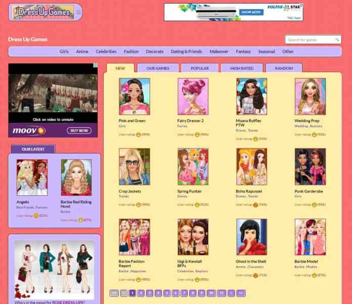 DressUpGames Anime Avatar Creator - Categories