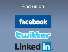 Find us on Facebook, Twitter, Linkedin, Youtune and Flickr