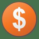 currency dollar orange