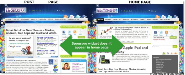HOME PAGE widget & POST PAGE widget OMARISON