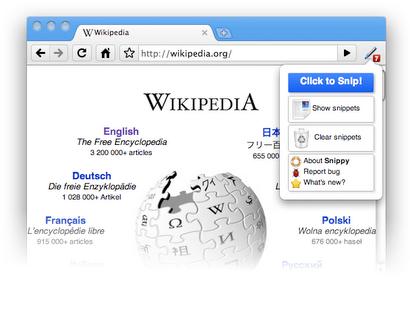 snippy web page screenshot taker