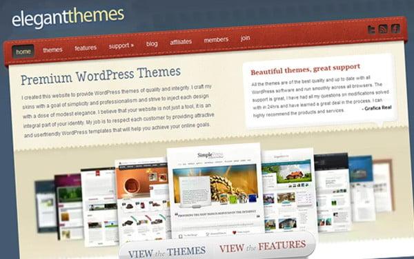 elegant themes home page