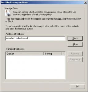 blocking website in firefox