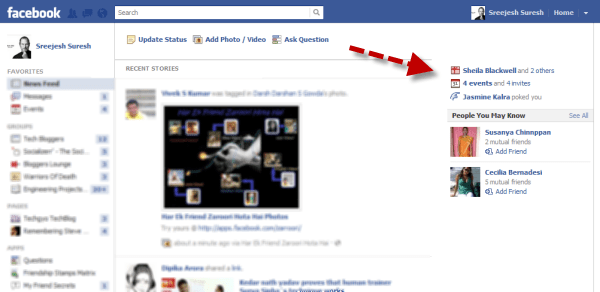 after Facebook ticker remover is installed