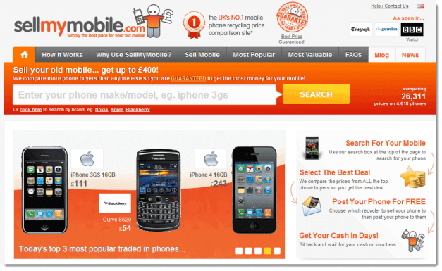 Sell Your Old Mobile for Cash or Vouchers at sellmymobile.com 2