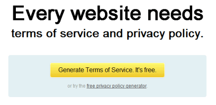 Termsfeed Generate Terms of Service