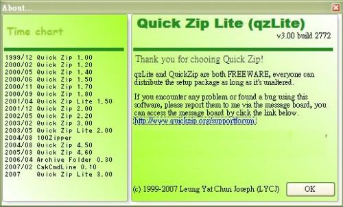 quick zip lite freeware