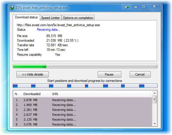 Download Large software and movies files quickly with constant high speed 2