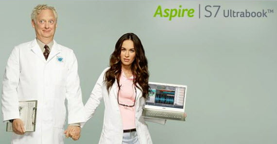 Megan Fox explores her hidden passion with an Acer Aspire S7 1