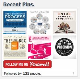 pinterest recent pin widget