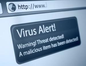 Virus alert warning