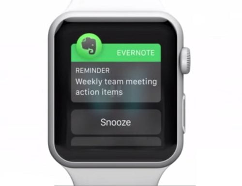 Apple watch app for Evernote