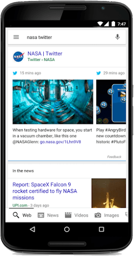 google search recent tweet results