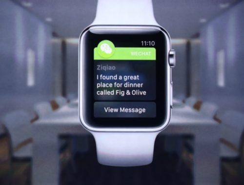 wechat apple watch app