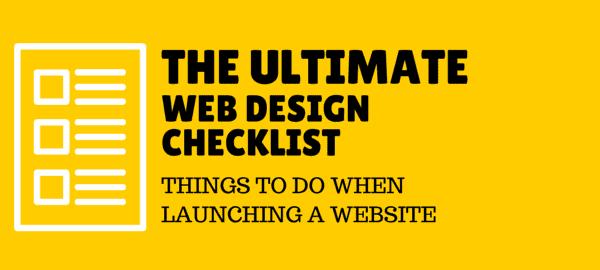 web design checklist for conversion