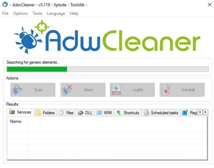 AdwCleaner Malware Diagnostic Tool
