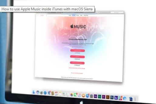 Apple Music in iTunes on macOS Sierra
