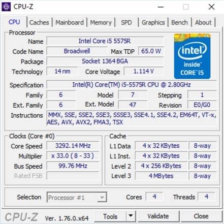 CPU-Z system diagnostic tool