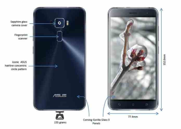 Asus Zenfone 3 Outer Specs
