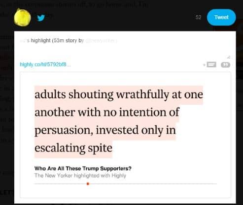 Highly highlight share