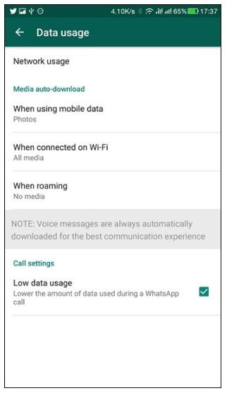 Use Less Data for Calls and Media on WhatsApp