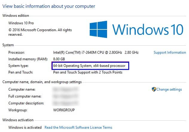 Difference Between 32-bit & 64-bit Windows - Settings to know your bits