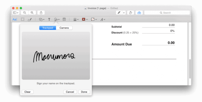 How to Electronically Sign a PDF using Preview on Mac 2