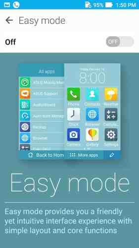 easy mode zenfone live