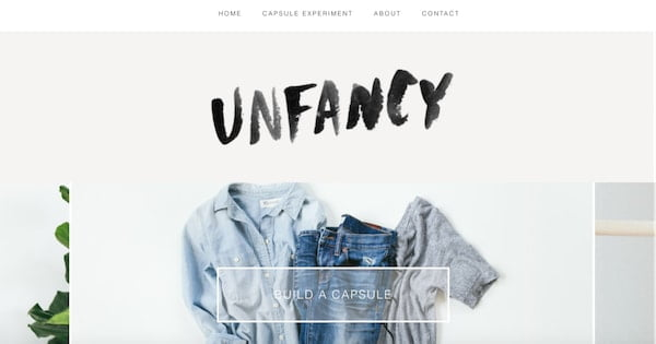 unfancy minimalistic wordpress site