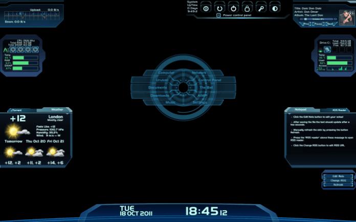Mass Effect Rainmeter Skin