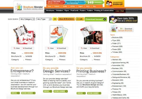 Top Five online tools for designing a brochure for you to choose from 8