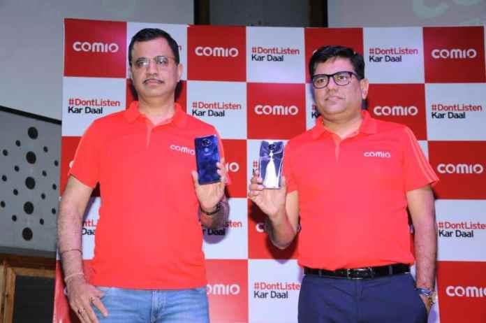 Mr. Sumit Sehgal, Chief Marketing Officer, COMIO Smartphones_ Mr. Sanjay Kalirona, CEO & Director