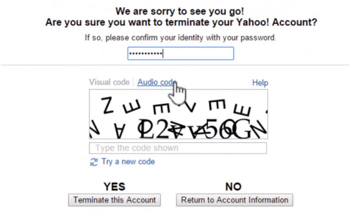 terminating your yahoo account page-terminate yahoo account