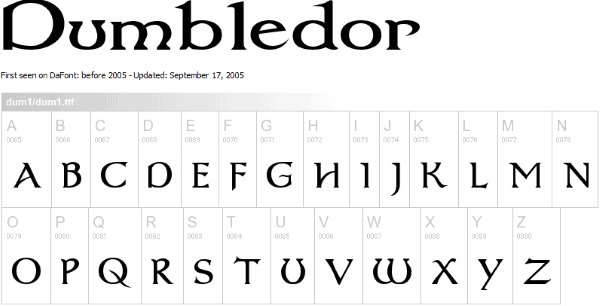List Of All Harry Potter Fonts - Free Download 2