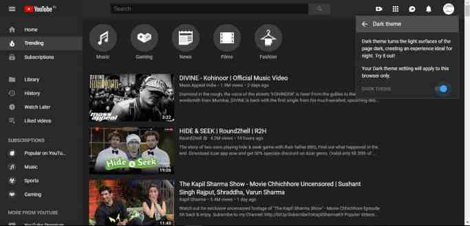 How To Enable Youtube Dark Mode 6