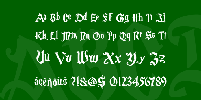 List Of All Harry Potter Fonts - Free Download 6