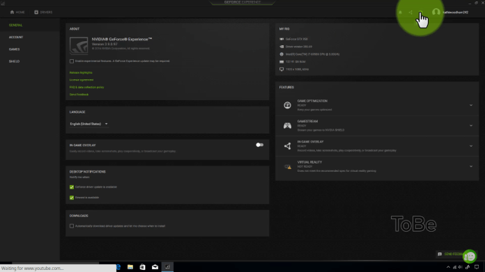 How To Record Games using Nvidia ShadowPlay 1