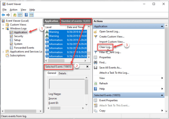 How To Delete Win Log Files In Windows 10 6