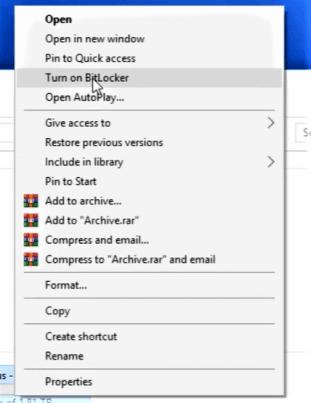 password protect external hard drive