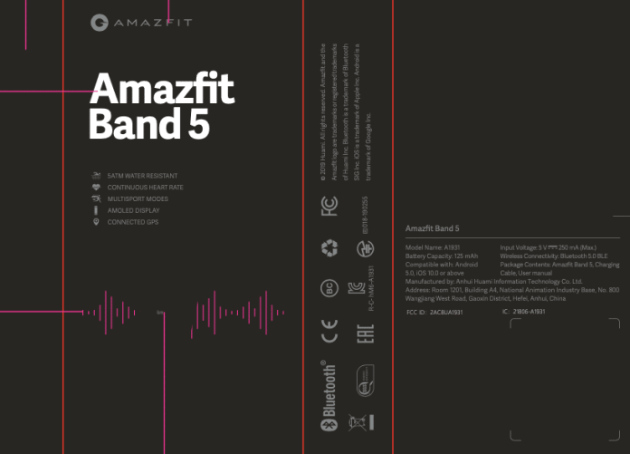 Amazfit Band 5 Listed on Amazon; Comes With Integrated Alexa, SPO2 Monitoring & more 2