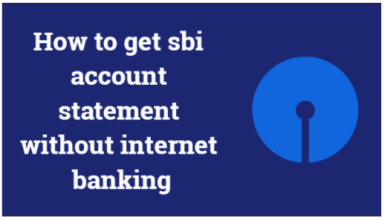 how to get SBI account statement without internet banking