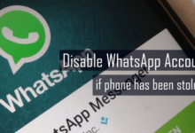 Disable whatsapp account