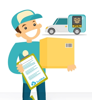 APO Box package delivery service