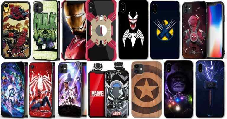 iPhone 11 and xr comparison marvel phone cases