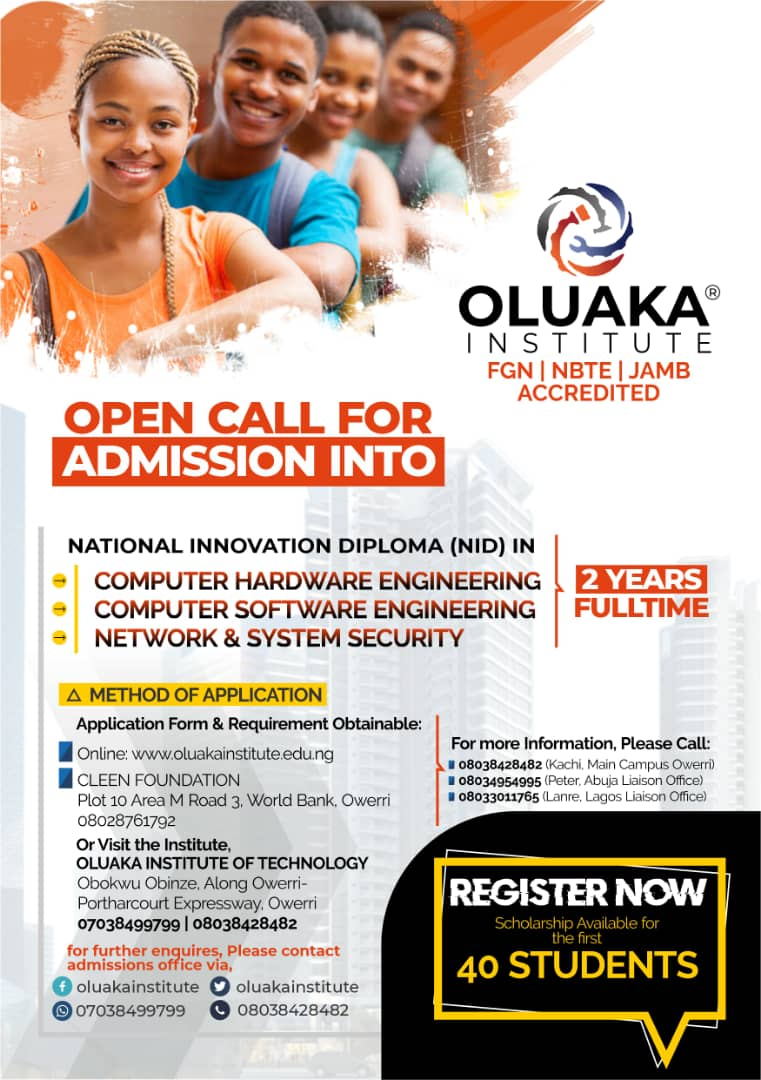 oluaka institute of technology admission