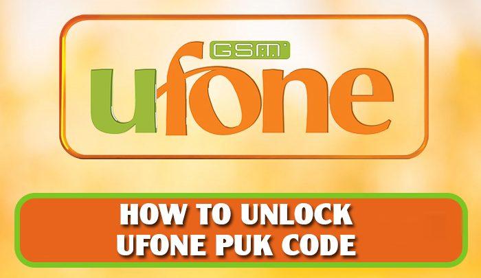 Ufone Puk code reset
