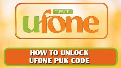 Photo of How to unlock ufone puk code?