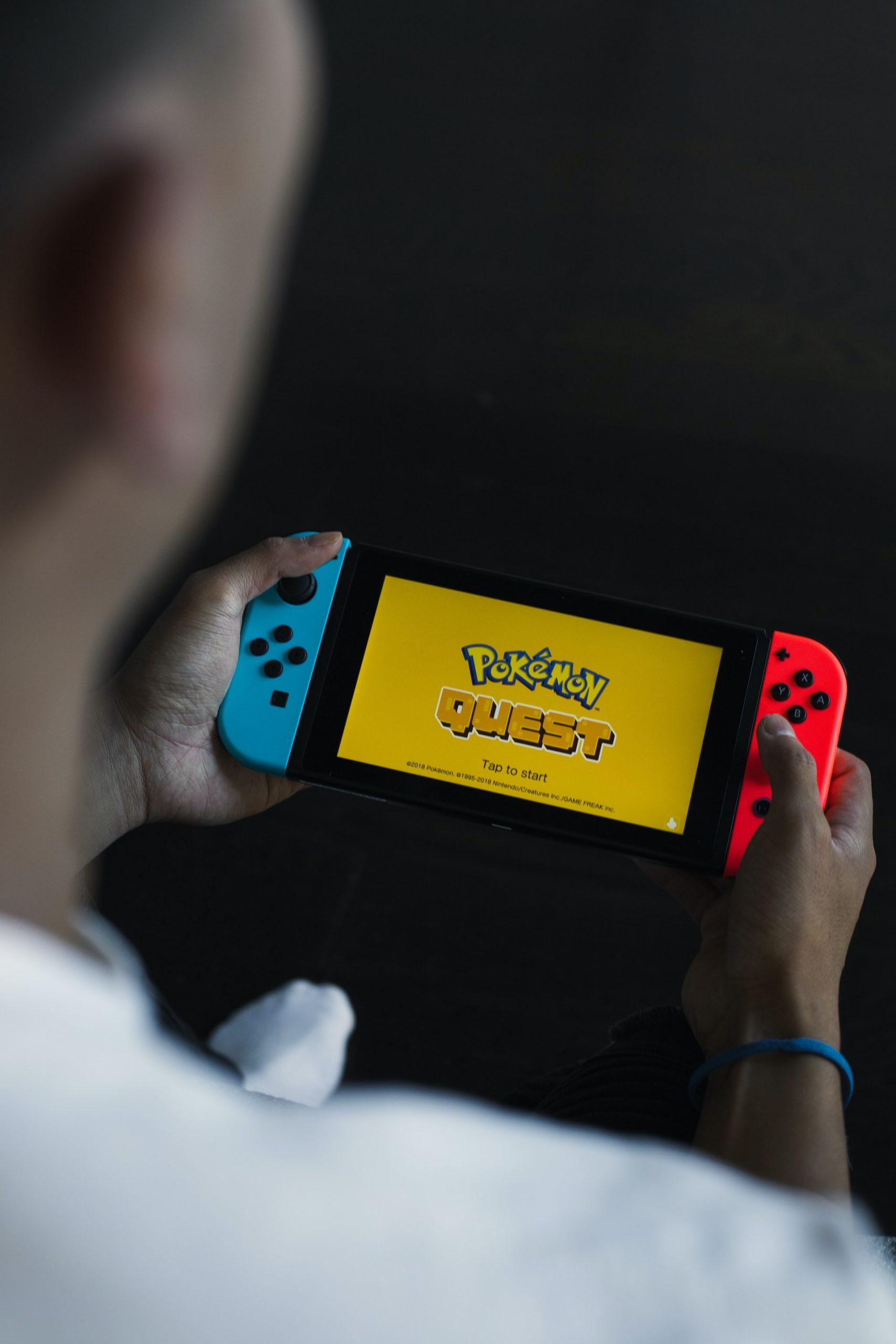 Nintendo Switch Playing Pokemon