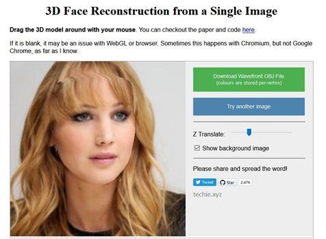 Membuat Model 3D Wajah Dari Satu Foto Itu Mungkin dan Memang Bisa